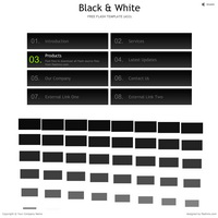 200 black white - flash templates