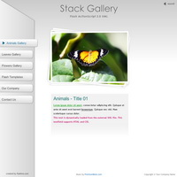 205 stack gallery - flash templates