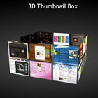 flashmo 095 3d thumbnail box Free Flash Website Templates and Galleries
