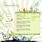 111 butterfly studio - free flash template