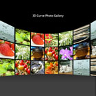 flashmo 122 3d curve gallery Free Flash Website Templates and Galleries