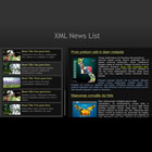 228 news list - free flash template